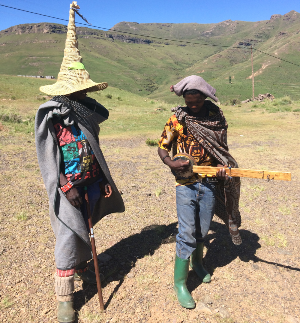 HERDER BOYS IN THE LESOTHO COUNTRYSIDE. We worked with 5 cooperatives in Lesotho to create our AW15 collection.