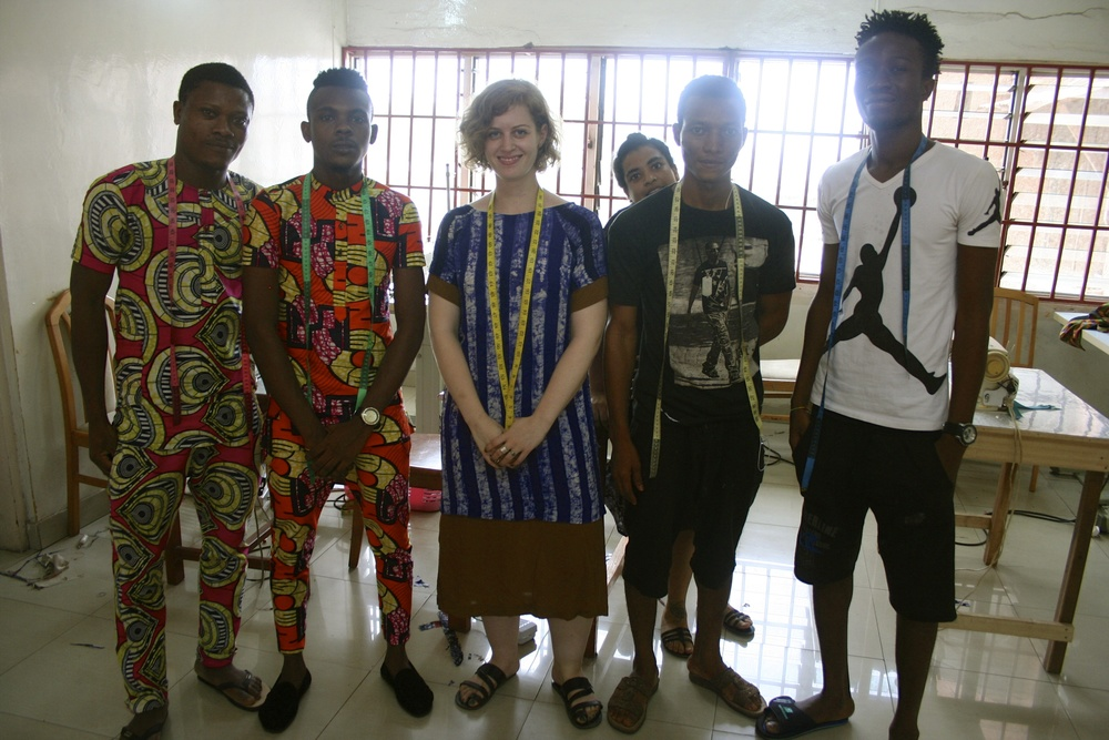 """""""Our Accra manager Lee and the team at Tsitsa factory"""""""