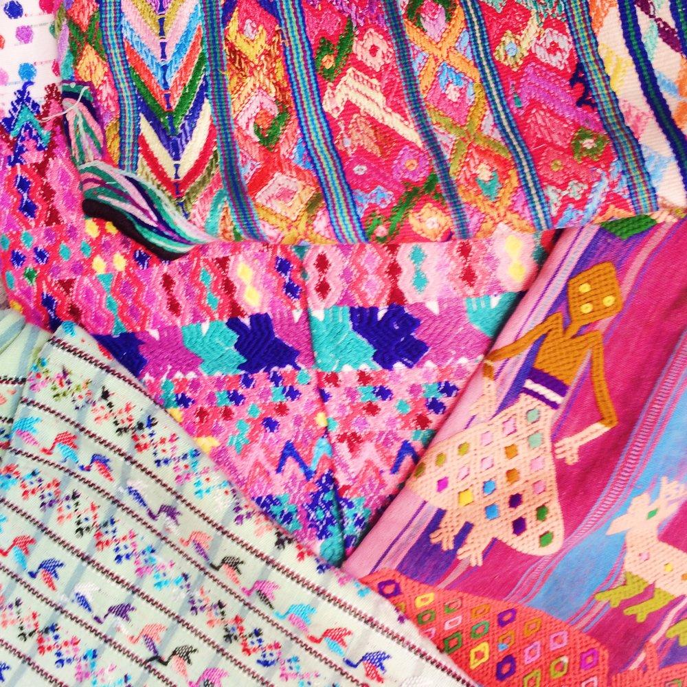 Vintage Guatemalan textiles