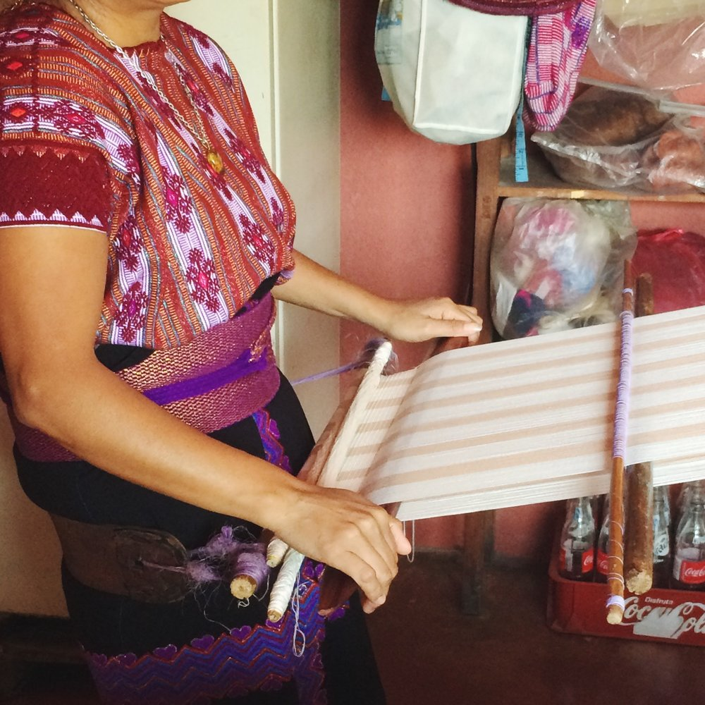 Backstrap weaver in Guatemala (photo courtesy of Proud Mary)