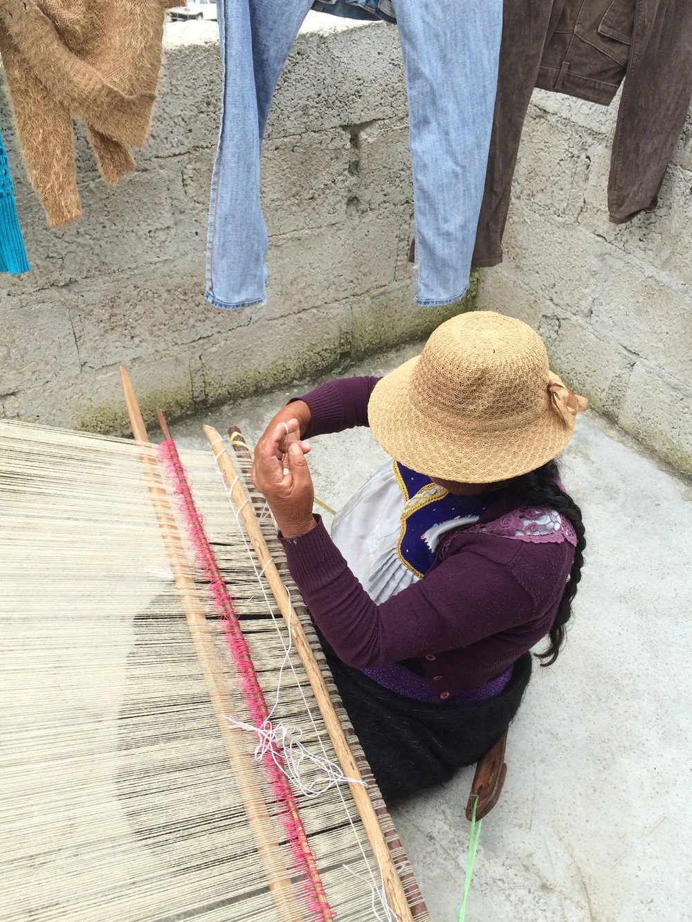 Backstrap weaving wool for Proud Mary's AW16 clutches in Chiapas, Mexico