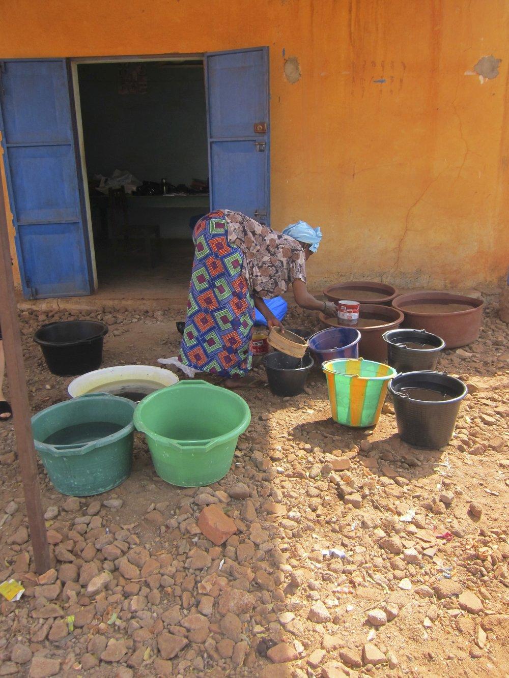 Dye yard in Bamako
