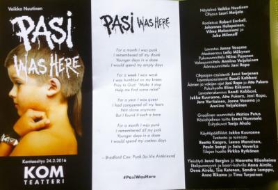 KOM-teatterin käsiohjelma: Pasi was here