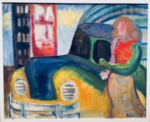 Yngve Bäck, Nainen auton vieressä