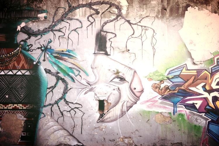 Street art in Santa Teresa.