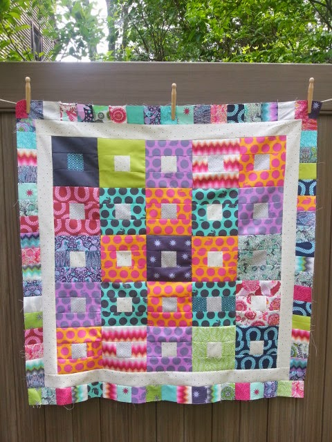 Tula Pink Fox Field Reprise A Baby Quilt From The Left Over Fabric