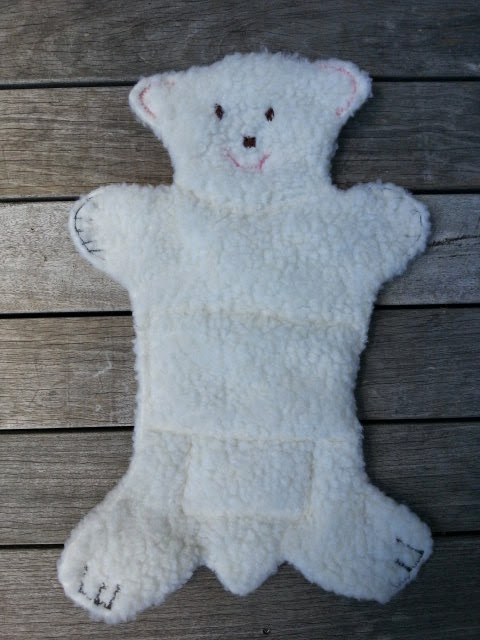 dog toy night time flat cuddly polar bear sleeping dog quilts