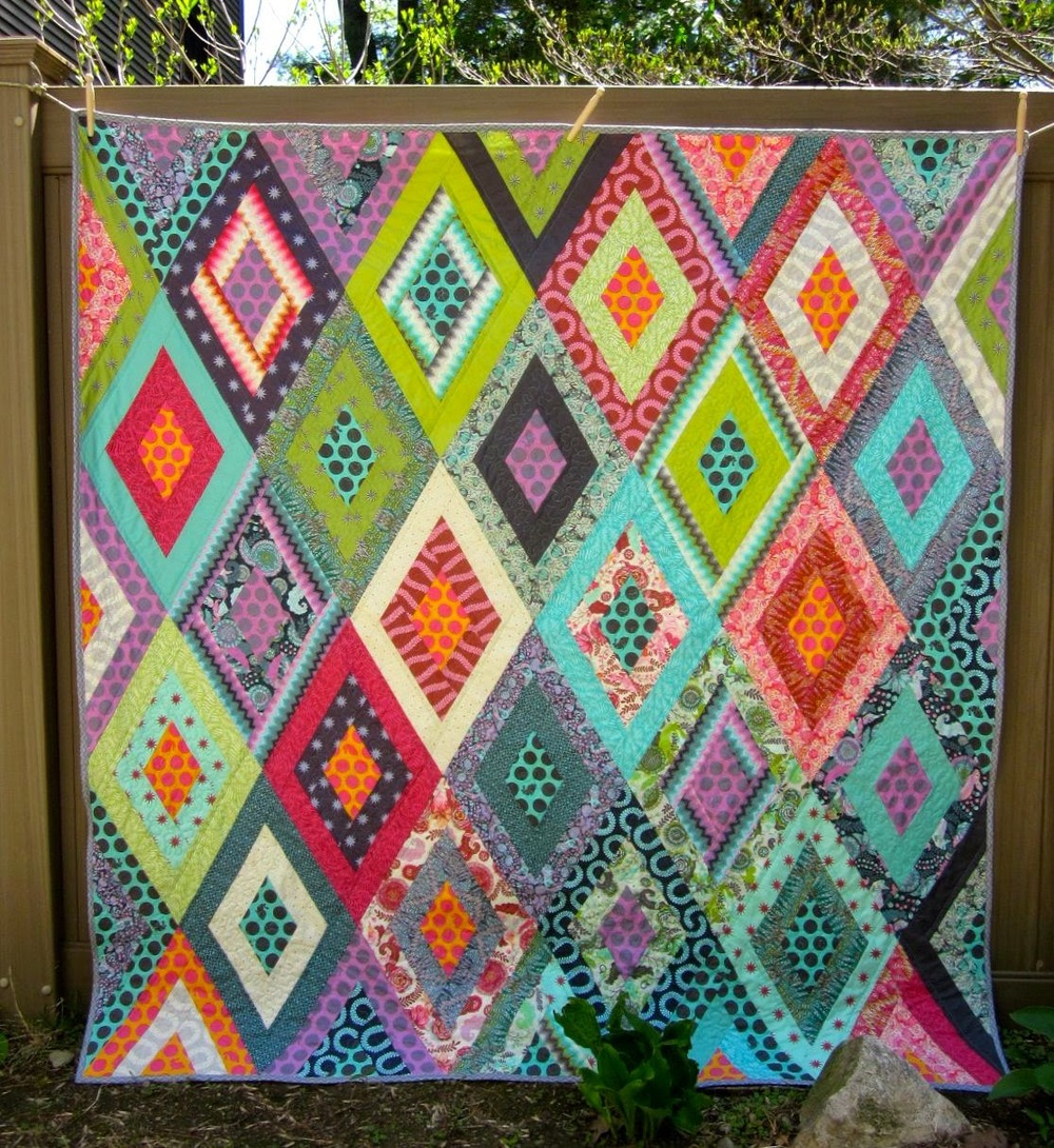 Tula Pink S Fox Field Craftsy Mystery Quilt Completed Sleeping