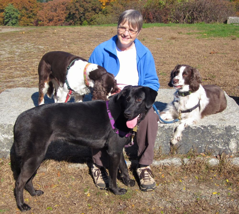 Judy with Hazel, Taffy and Tipper