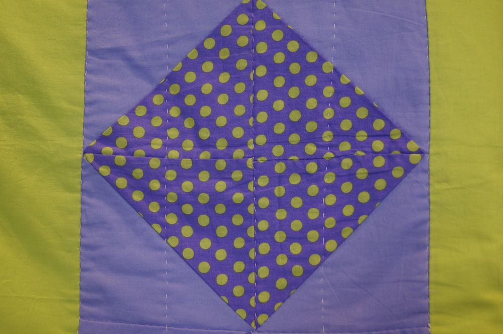 Polka dot diamond half square triangles