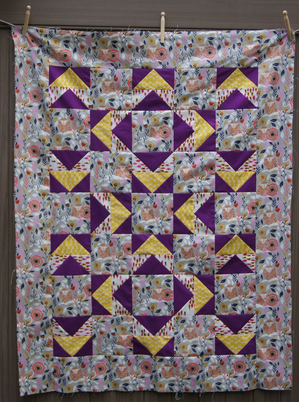Quilt Modern Flying Geese Top Lion C + S 9-14.jpg