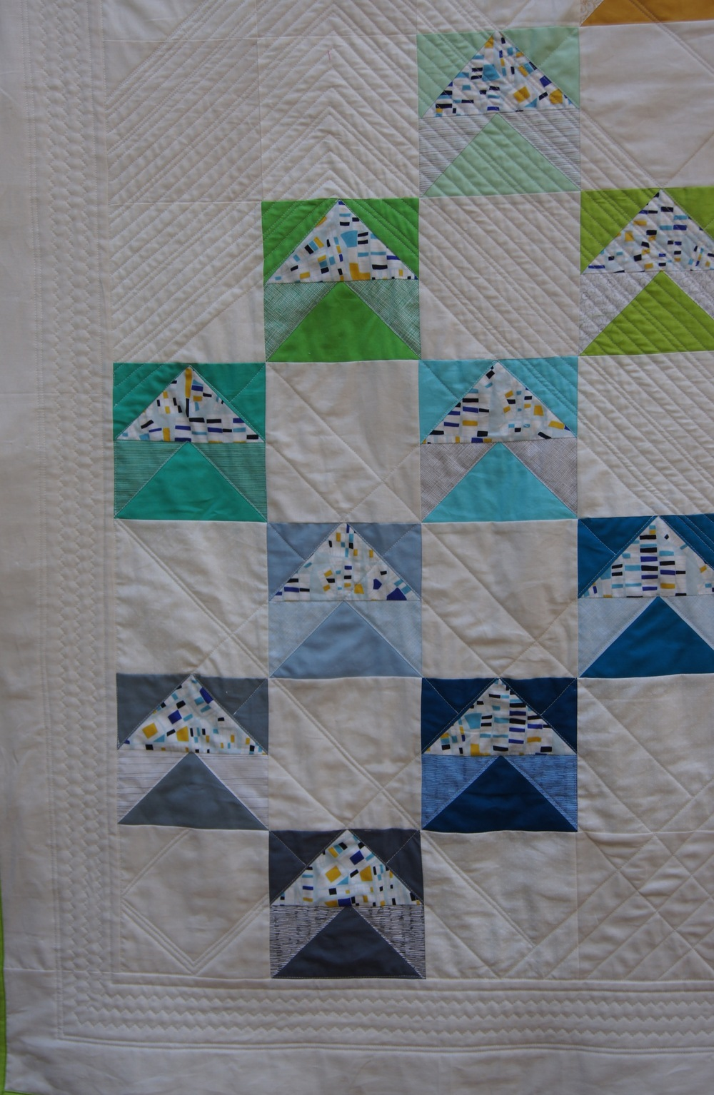 Quilt Modern Flying Geese Fox and Geese detail 1.jpg