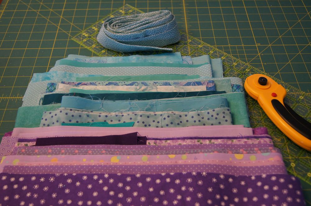 Quilt Grand Illusions first strip set.jpg