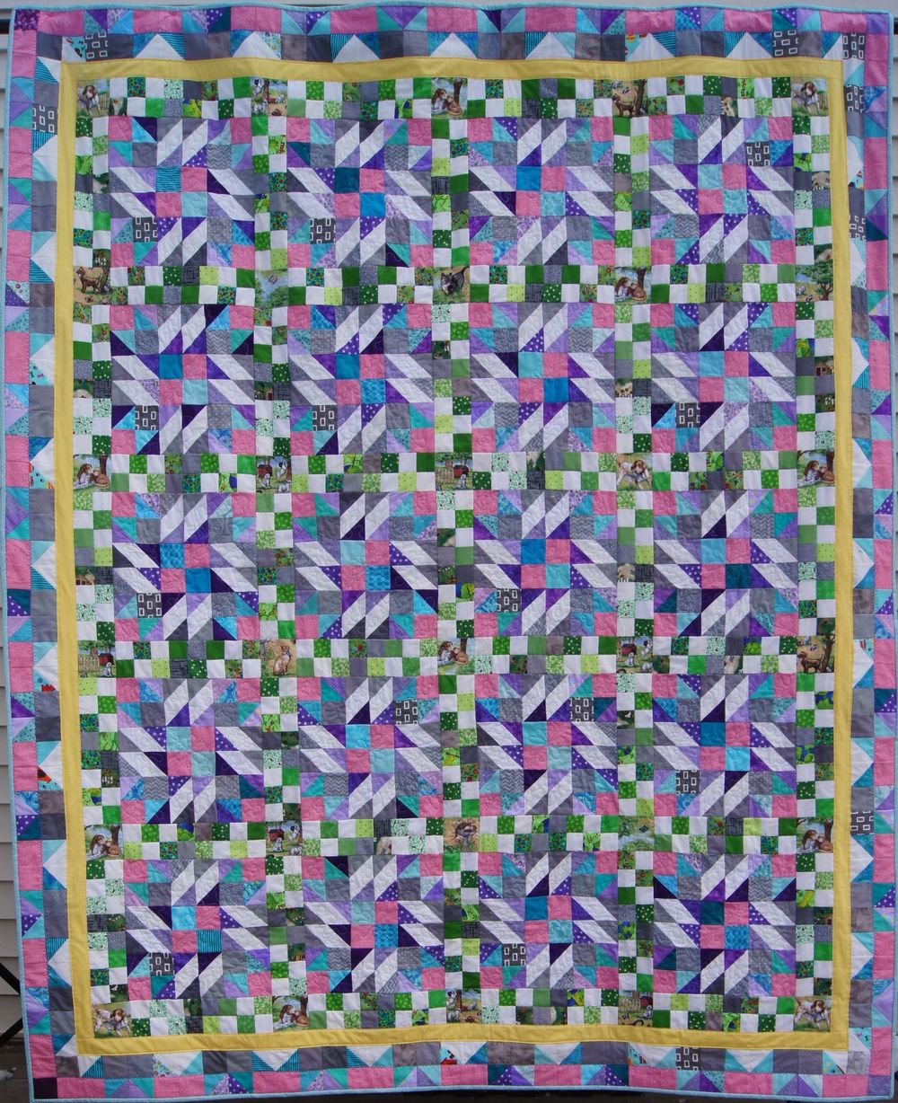 """Grand Illusion"" Bonnie Hunter 2014 Winter Mystery Quilt-Twin size"