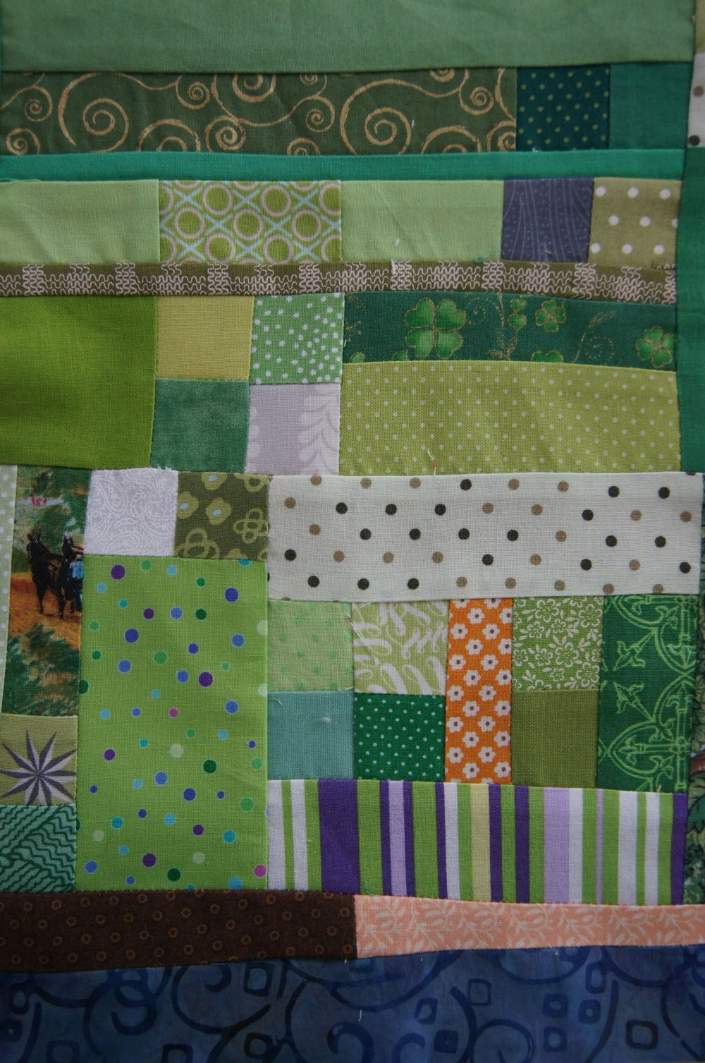 Quilt 40+ shades of Green Irish Mini top.jpg