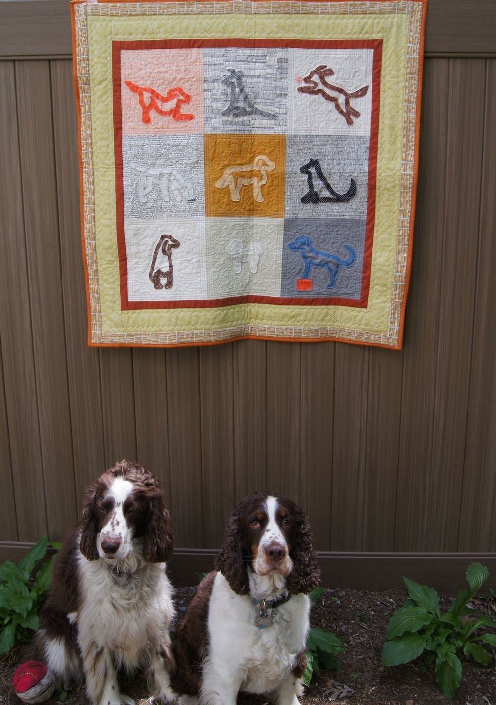 "Tipper and Taffy with ""Dog Pals"" Quilt"