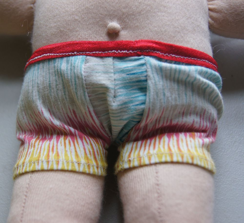 "Briefs (undies) for a 13"" Waldorf Type doll  (click text to open)"