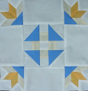 Modern Replica of Tucker Family Heirloom Quilt Block