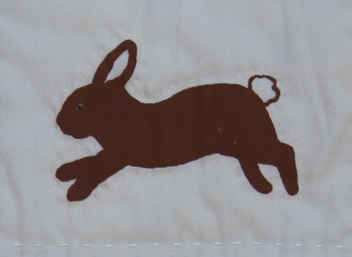 Silk Screened Hopping Bunny
