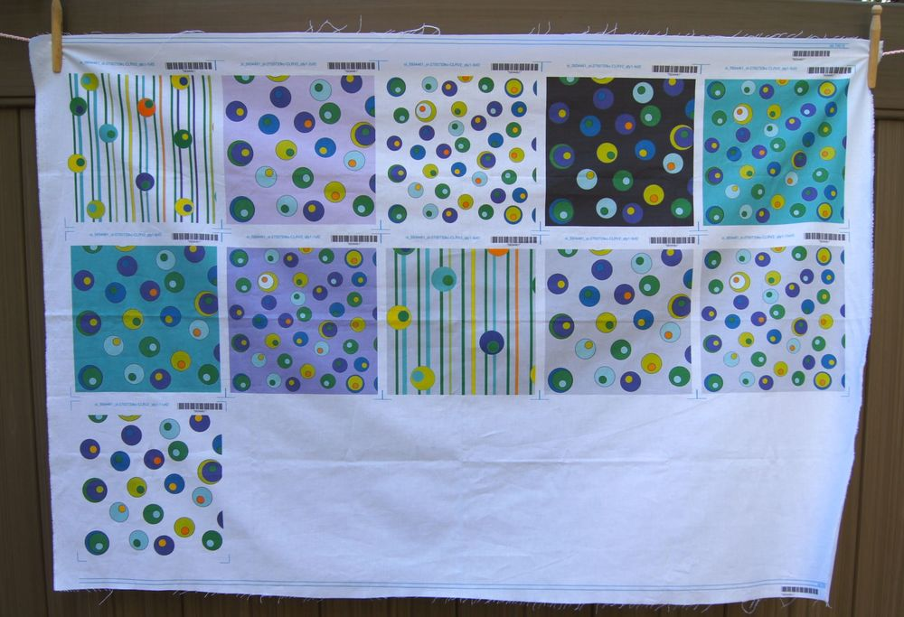 "Second Set of Proofs of ""Dancing Circles"" printed by Spoonflower.com"
