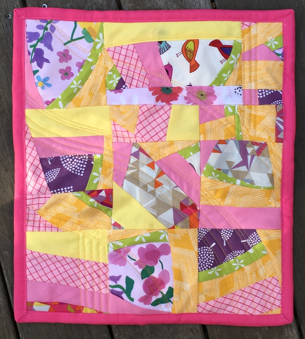 """Lemonaide"" Mini Quilt"