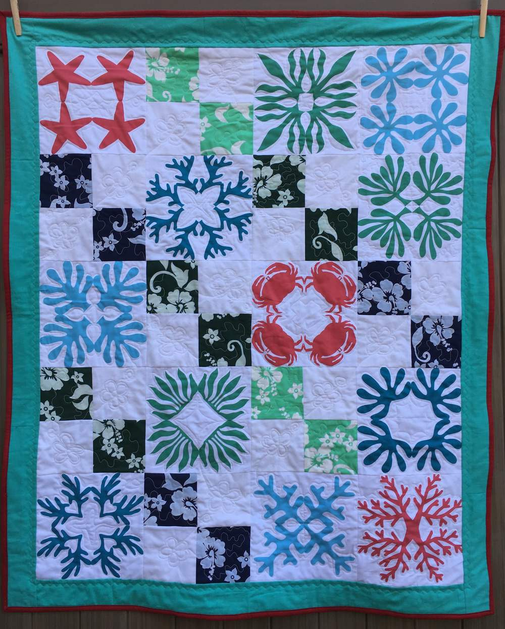"""Hawaii at Home"" lap quilt"