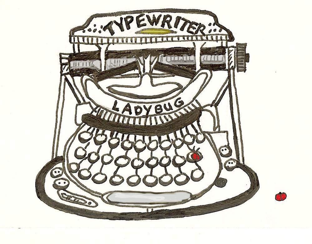 Fabric Ladybug Typewriter.jpg