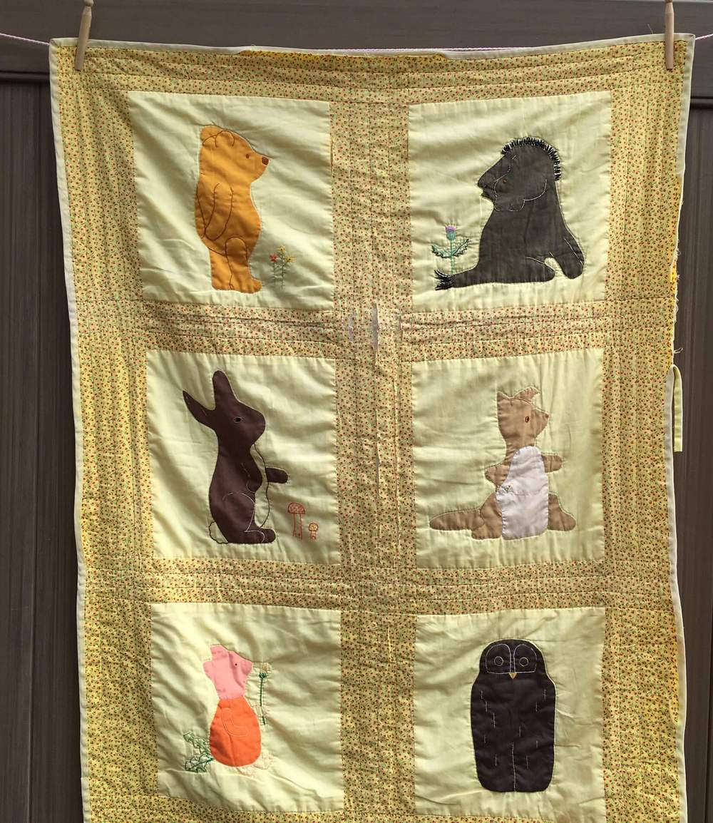 Pooh Themed Baby Quilt 1974