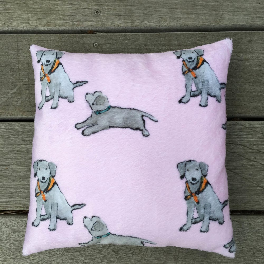 Fabric Lab Puppies Hug Pillow Pink.jpg
