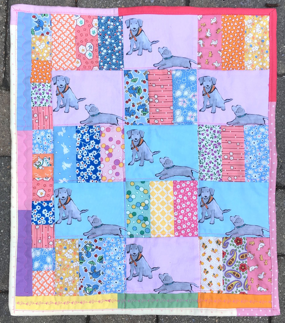 Lab Puppies Doll Quilt