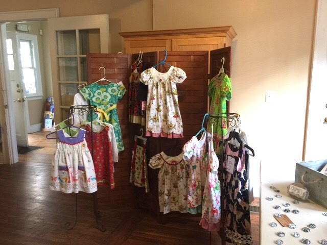 "Dresses for sale to benefit  ""I Still Matter"" at the 2nd St Mary's Art Walk, December 2, 2016, Jacksonville, FL"