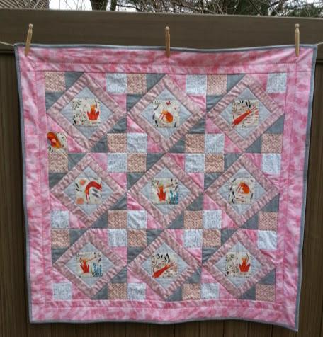 Quilt Economy Block Lattice Variation Baby Quilt.jpg