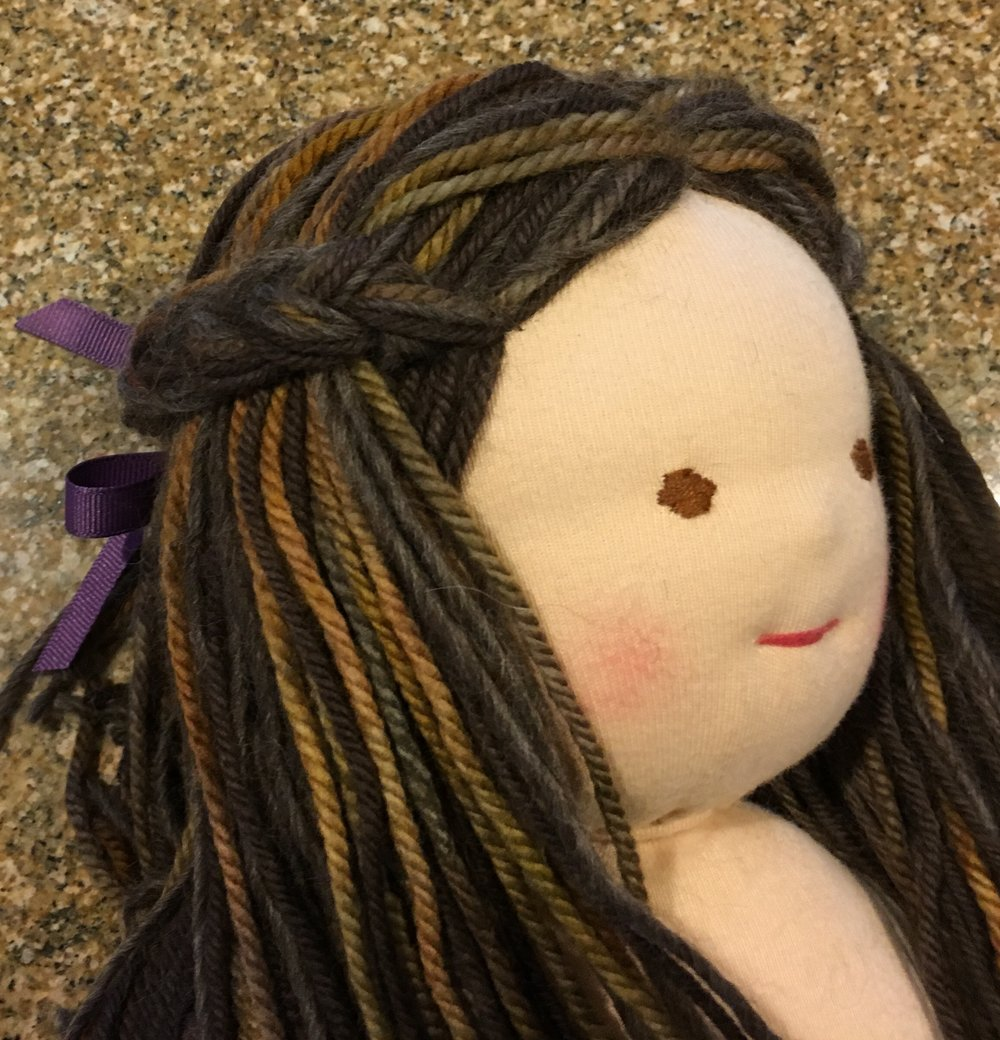 Making Doll Hair using Warping Pegs