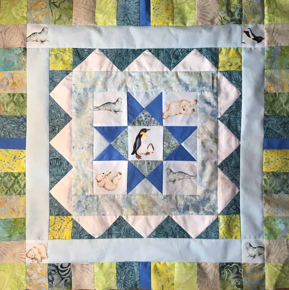 Polar Medallion Quilt Step 5