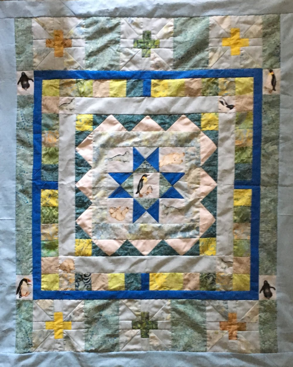 Polar Medallion Quilt, Step 9