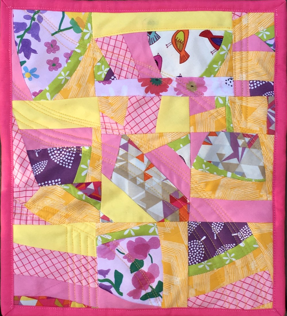 """Lemonade"" Mini Quilt based on Score #8"