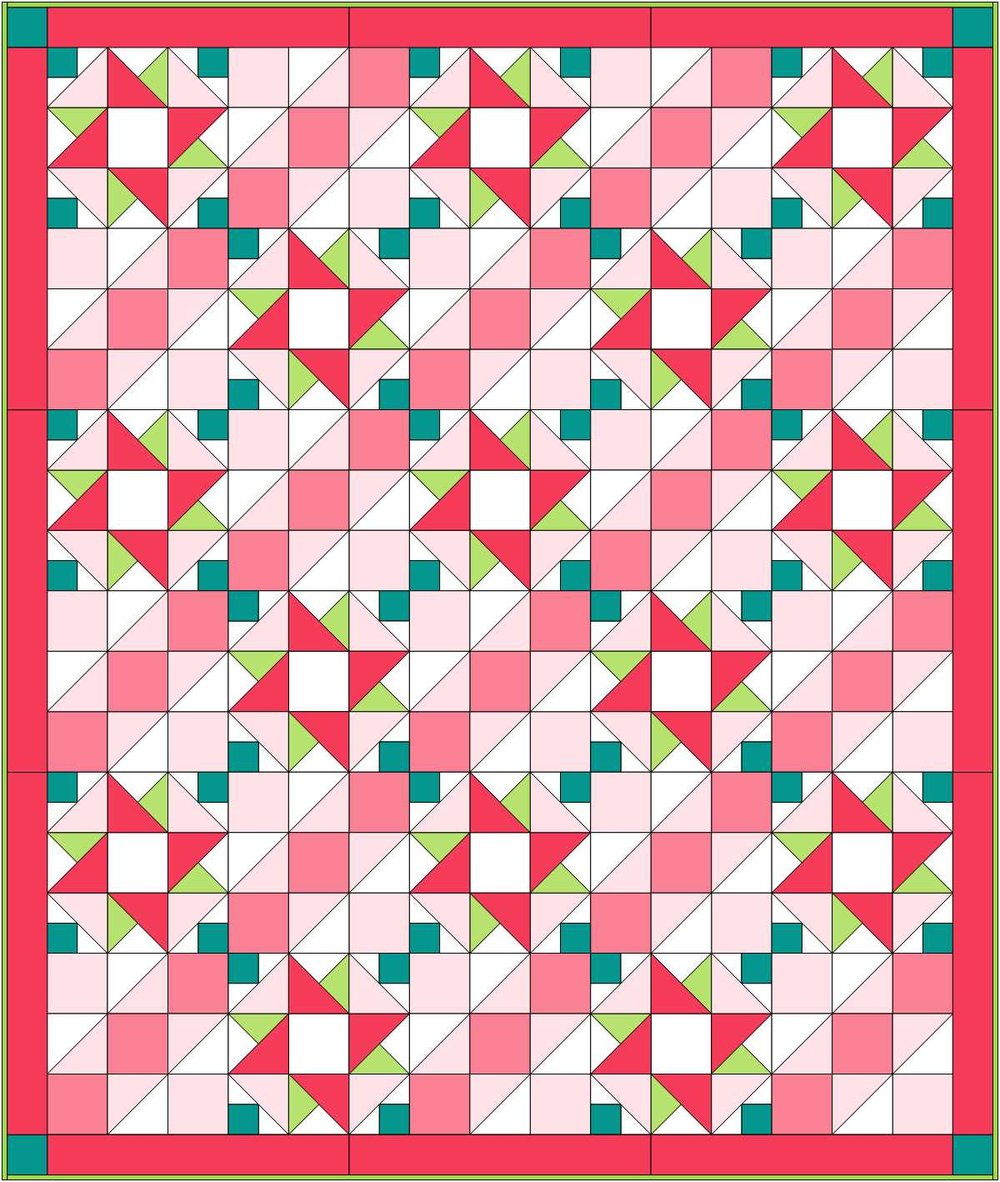 Quilt top designed in EQ8