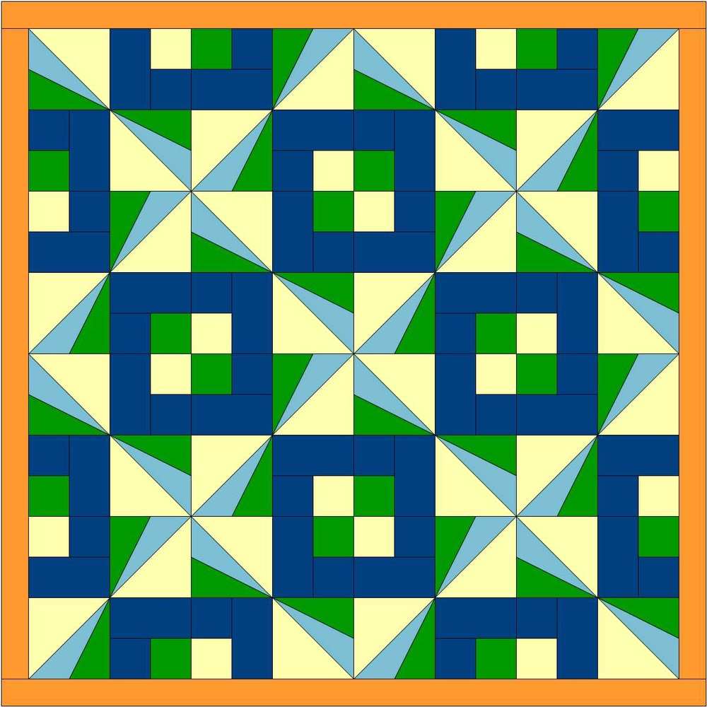 Sunbeams quilt 2 colors vs1.JPG