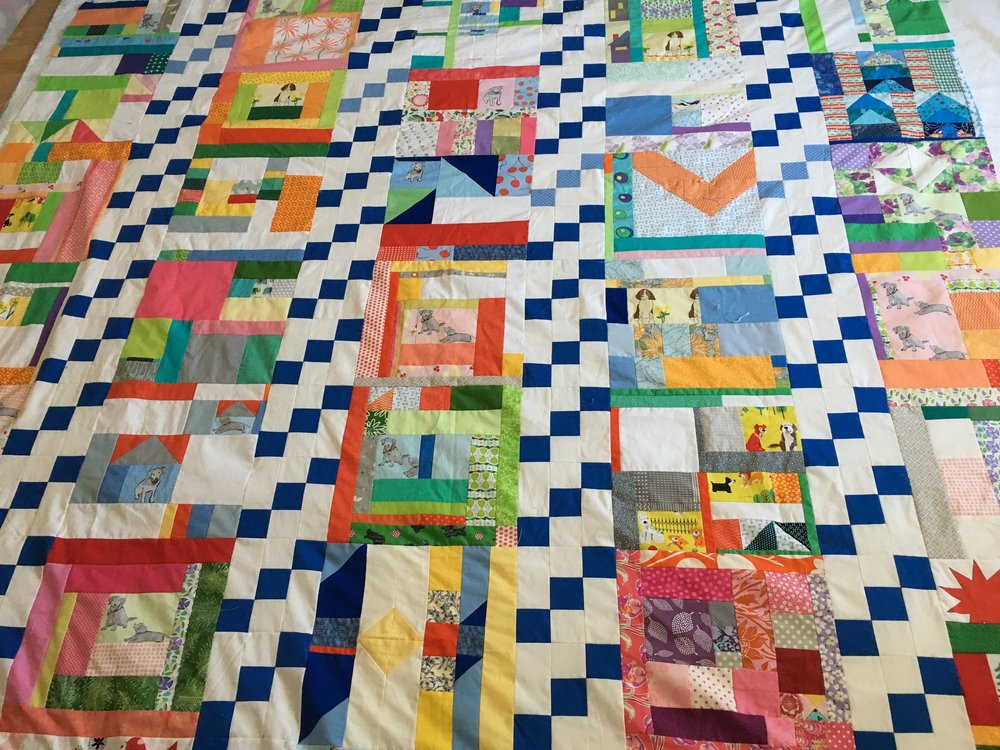 Here is a better view of the quilt top