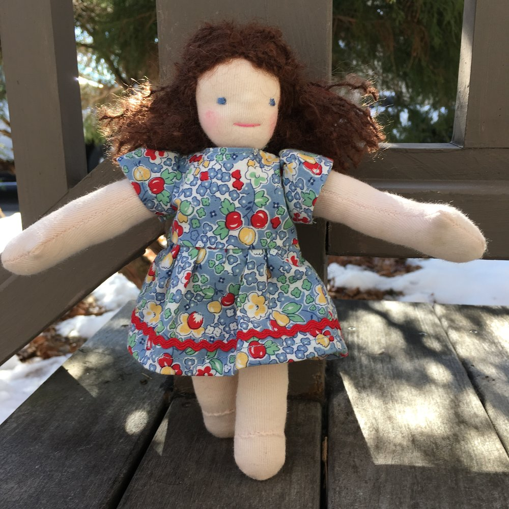 "8"" Traditional Waldorf Type Doll"