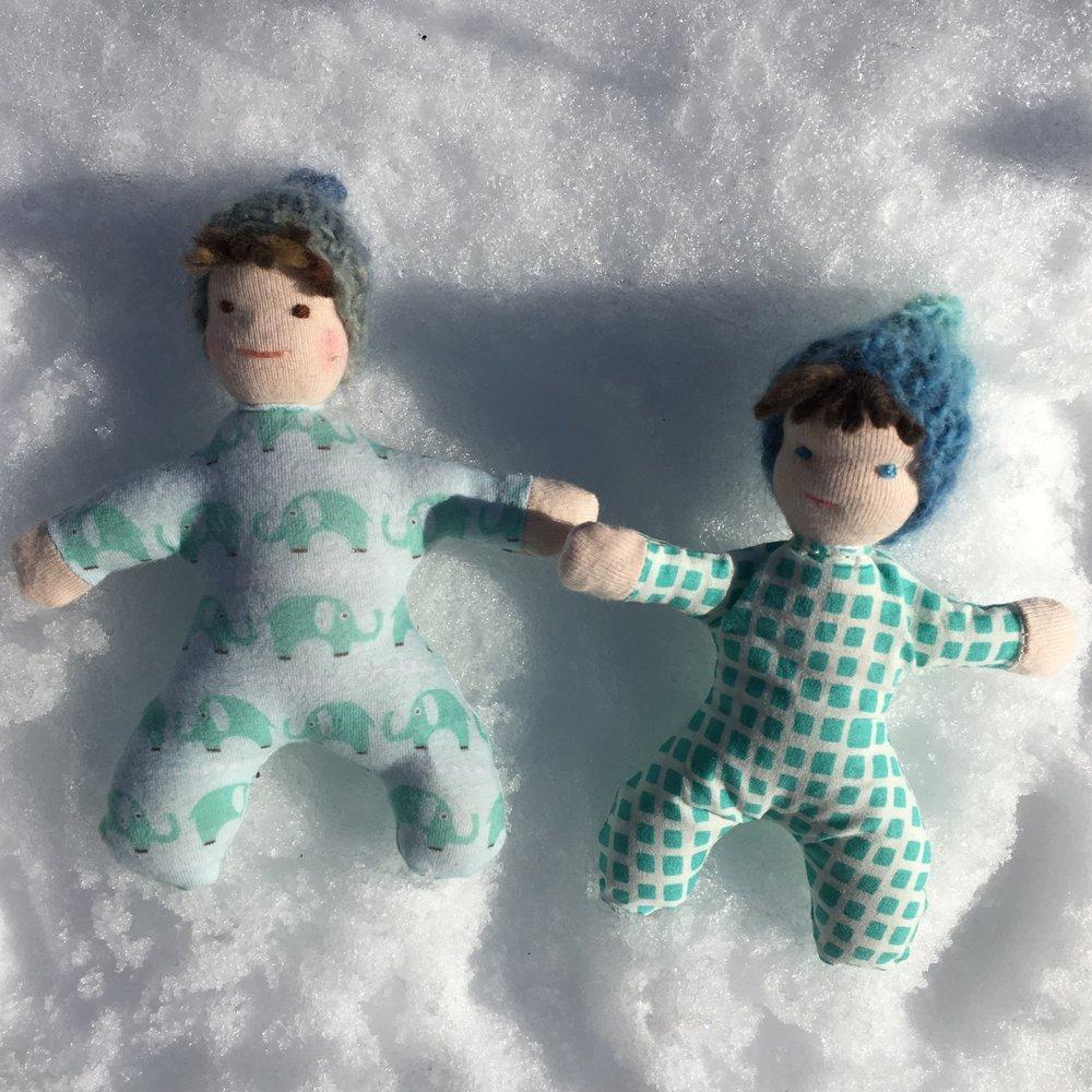 Tiny Waldorf Style Dolls
