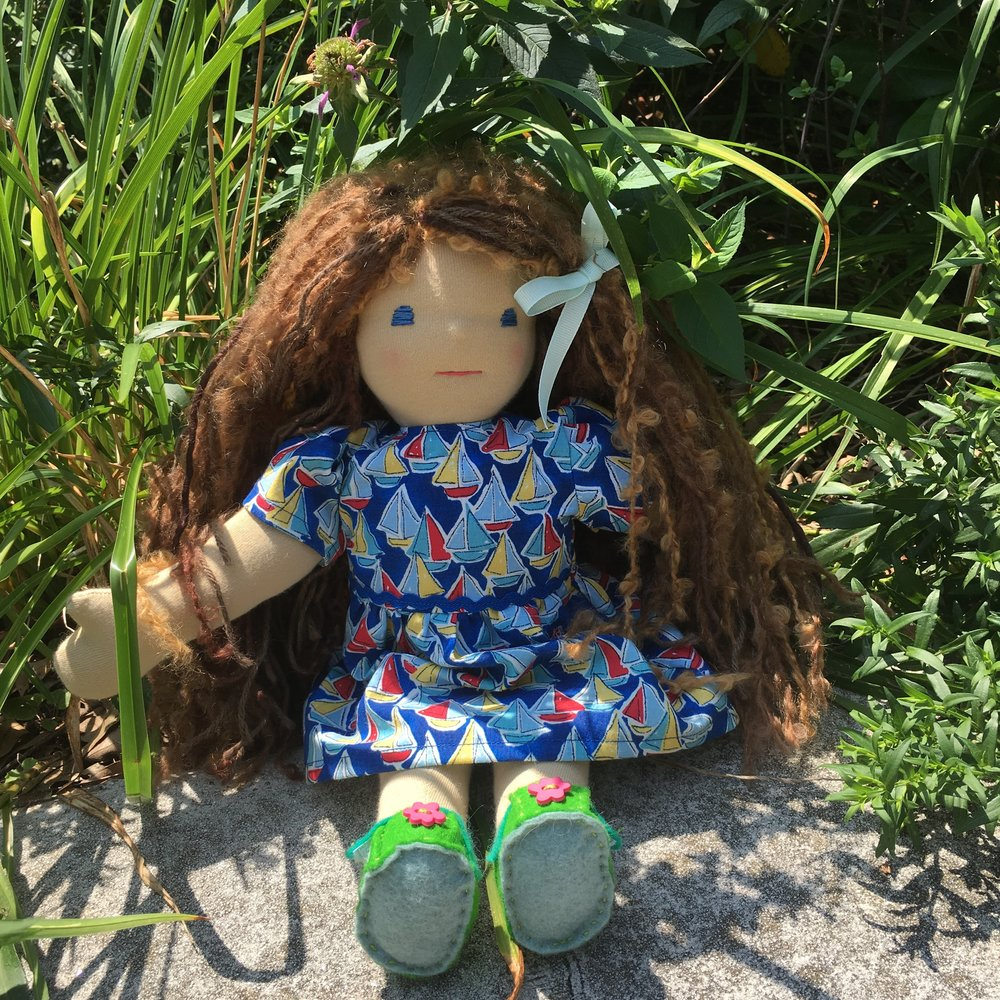 "15"" Waldorf type doll made with my own pattern"
