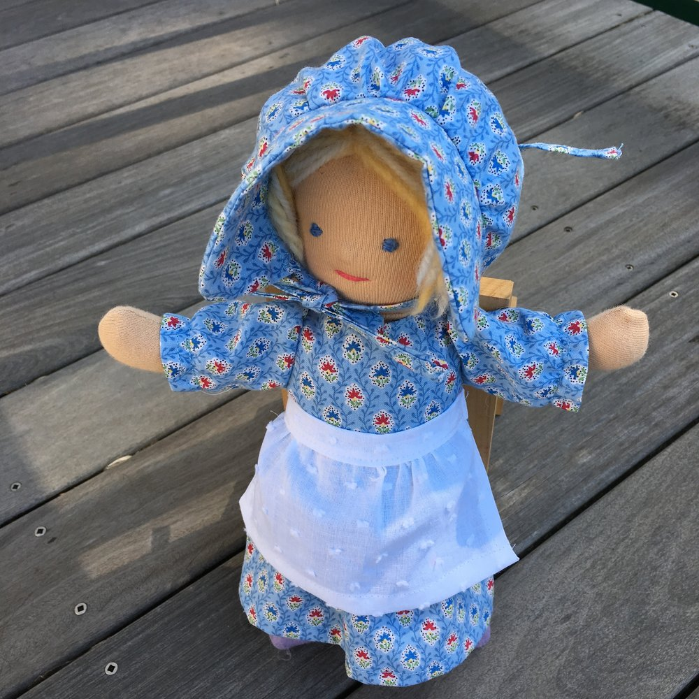 Prairie outfit for a little Waldorf type doll