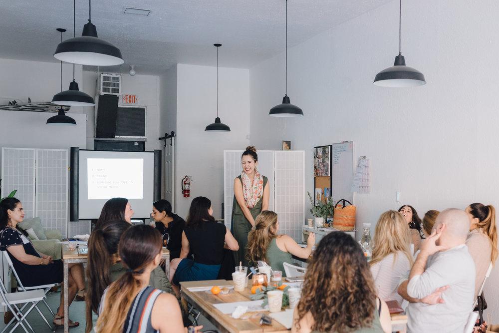 February Workshop. Photo credit: Jacqueline Reyna