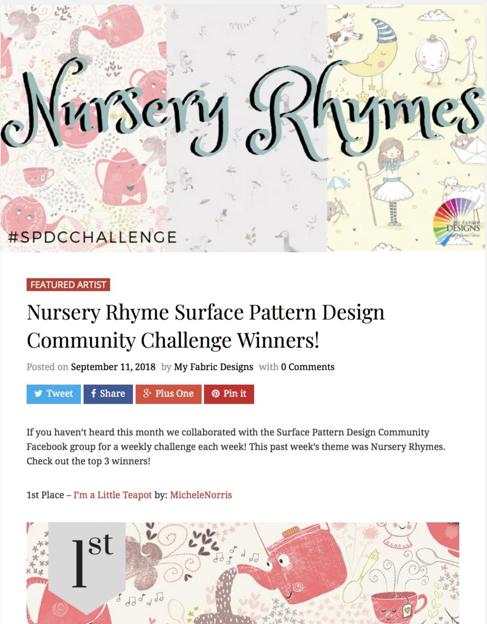 My Fabric Design Featured Artist