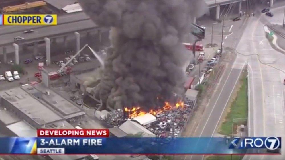 Seattle Warehouse Fire - July 4, 2018