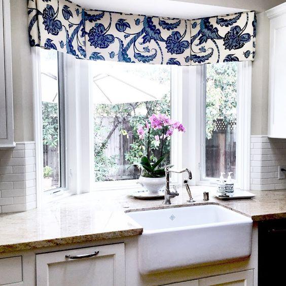 Bay Window Valance, Cornice, Board Treatment, Kitchen Valance, Window  Valance, Topper