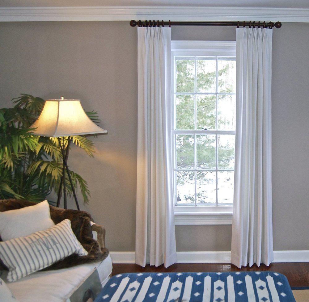 High end ready made panels, pinch pleat panels, pinch pleats, custom panels, draperies, drapes, white drapes, custom curtains