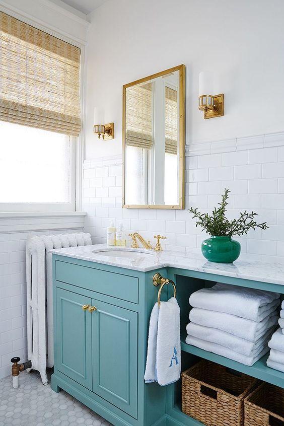 Bathroom Natural Woven Shade