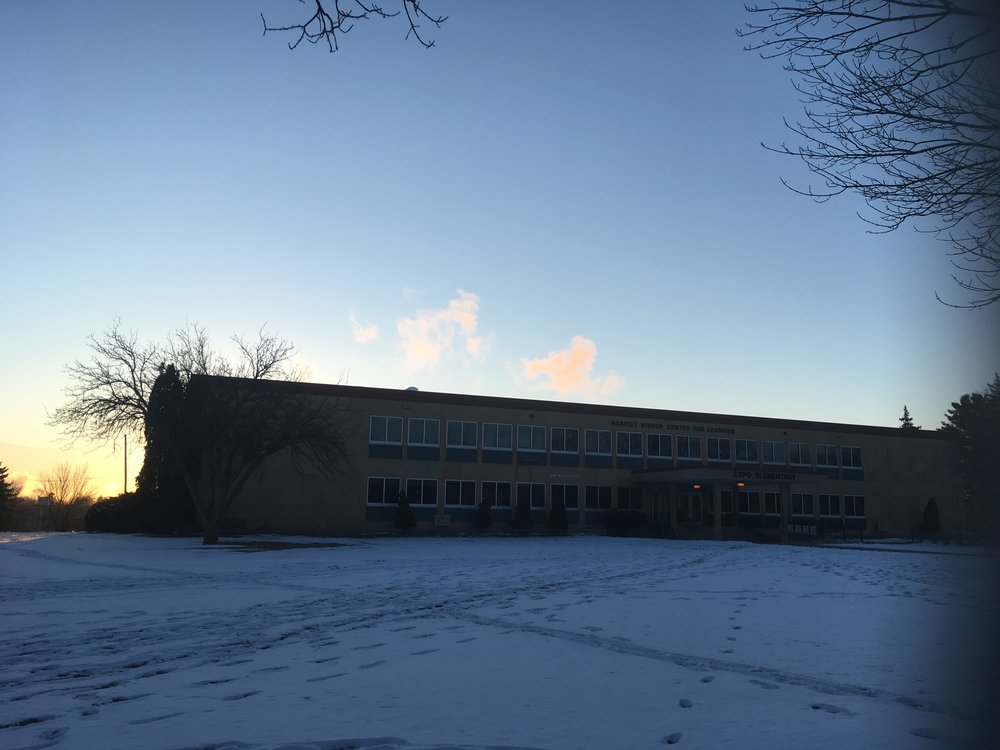 Expo Elementary at dawn.